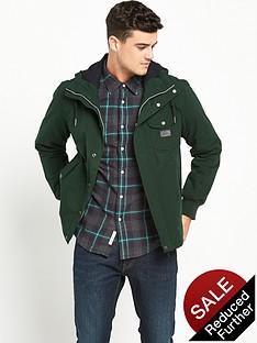 lee-hooded-padded-jacket-dark-bottle-green