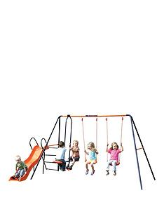 hedstrom-europa-double-swing-glider-and-slide-combination