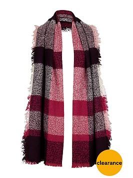 v-by-very-bobble-multi-check-blanket-scarf
