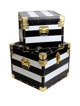 set-of-2-black-amp-white-storage-trunks