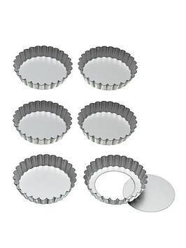 kitchen-craft-kitchen-craft-loose-bottom-tart-tins-10cm-set-of-six