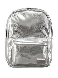 redland-pantone-pu-metallic-backpack-silver