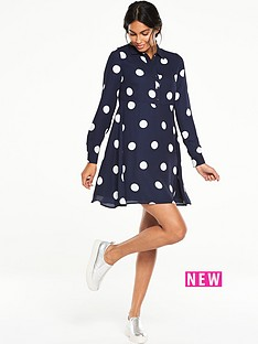v-by-very-collared-swing-spot-dress