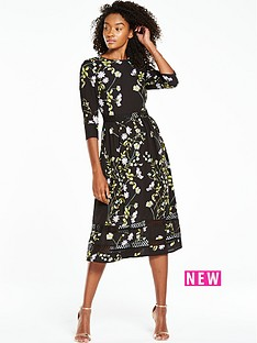 v-by-very-printed-34-sleeve-midi-dress