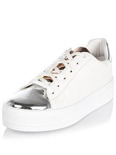 river-island-metallic-trim-plimsoll