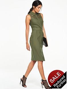 v-by-very-lace-yoke-structured-midi-dress