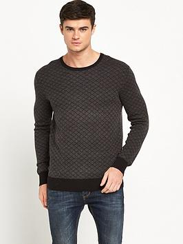 scotch-soda-jacquard-knitted-crew-neck-jumper