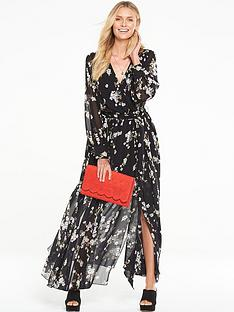 v-by-very-long-sleeve-split-maxi-dress