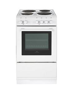 New World 50ES 50cm Single Cavity Electric Cooker with Optional Connection - White