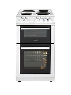 Belling FS50EFDO 50cm Double Oven Electric Cooker with Optional Connection - White
