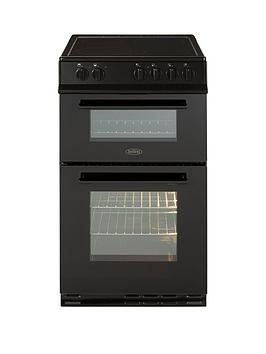 belling-fs50edofc-50cm-double-oven-electric-ceramic-cooker-with-optional-connection-black