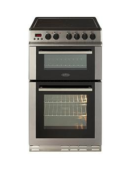 Belling Fs50Edopc 50Cm Double Oven Electric Ceramic Cooker With Connection - Stainless Steel - Cooker Only thumbnail