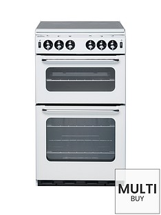new-world-500tsidl-50cm-twin-cavity-gas-cooker-with-optional-connection-white
