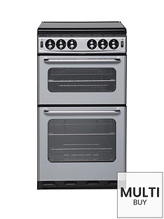 new-world-500tsidl-50cm-twin-cavity-gas-cooker-with-optional-connection-silver