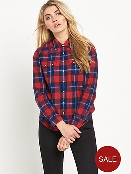 lee-regular-western-flannel-check-shirt-red-check