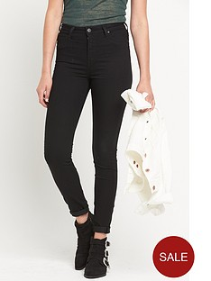 lee-skylernbsphigh-waist-stretch-skinny-jeggingnbsp--black-rinse