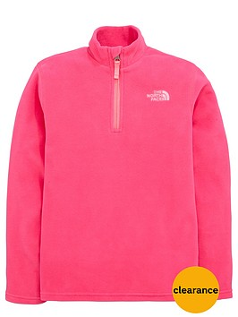 the-north-face-older-girls-glacier-14-zip-fleece-top