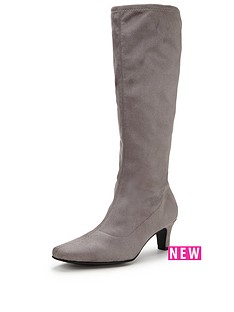 v-by-very-cormack-imi-suede-stretch-boot-mid-heel-grey