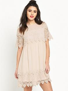 miss-selfridge-lace-trim-smock-dress