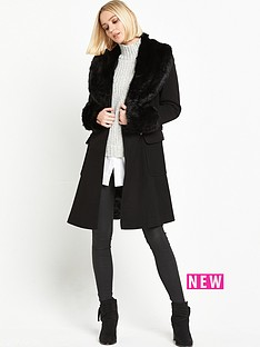 miss-selfridge-belted-waist-coat-with-faux-fur-collar