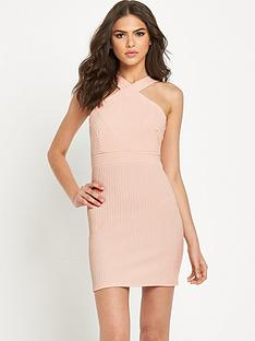 miss-selfridge-choker-cross-neck-rib-bodycon-dress-petite