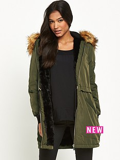 miss-selfridge-parka-coat-with-fauxnbspfur-hood