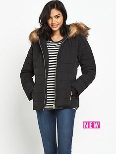 miss-selfridge-black-quilted-jacket