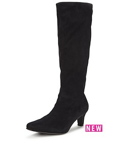 v-by-very-cormack-imi-suede-stretch-boot-mid-heel-black