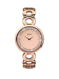 seksy-seksy-rose-dial-crystal-bezel-ladies-watch