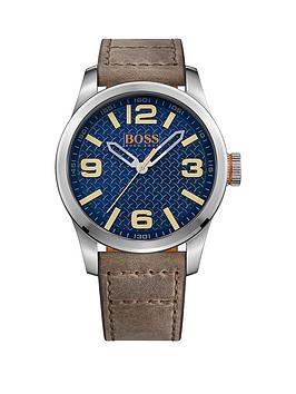 hugo-boss-hugo-boss-paris-dark-blue-textured-dial-dark-beige-nubuck-strap-mens-watch