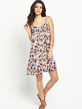 Floret Strappy Short Dress