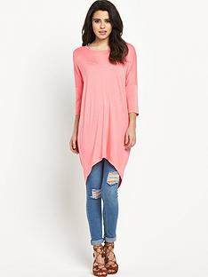 vero-moda-cool-dapper-oversized-top-pink