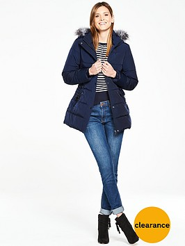 oasis-andrea-padded-coat-navy