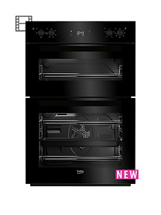 beko-bdf22300b-60cm-built-in-electric-double-oven-with-optional-connection-black
