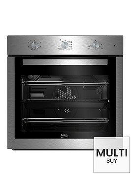 beko-bif16100xnbsp60cm-ecosmart-single-fan-oven-with-optional-connection-stainless-steel