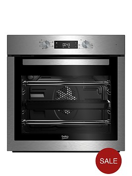 beko-bif16300x-60cm-built-in-electric-single-oven-with-optional-connection-stainless-steel