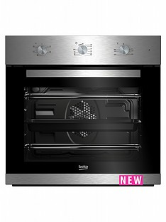 beko-bif22100x-60cm-built-in-electric-single-oven-with-optional-connection-stainless-steel