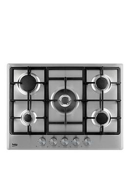 beko-hcmw75225sx-70cm-built-in-gas-hob-with-connection-stainless-steel