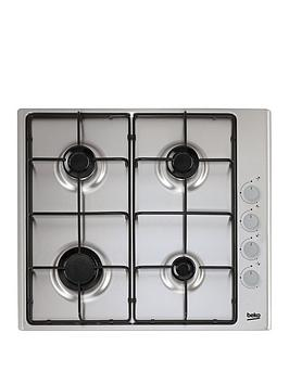 beko-hizg64120sx-58cm-built-in-4-burner-gas-hob-with-fsd-and-optional-connection-stainless-steel