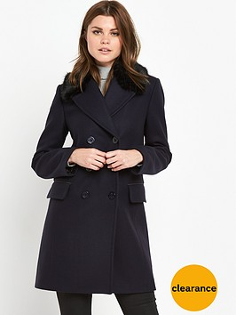 french-connection-platform-felt-faux-fur-collared-coat-utility-blue