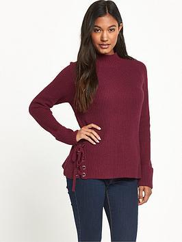 french-connection-freedom-fringe-knits-zinfandel