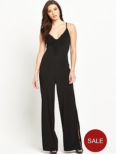 v-by-very-petite-split-leg-lace-trim-jersey-jumpsuit