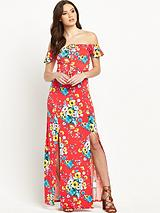 Petite Split Front Jersey Maxi Dress