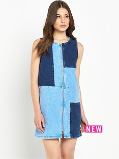 river-island-denim-patchwork-dress