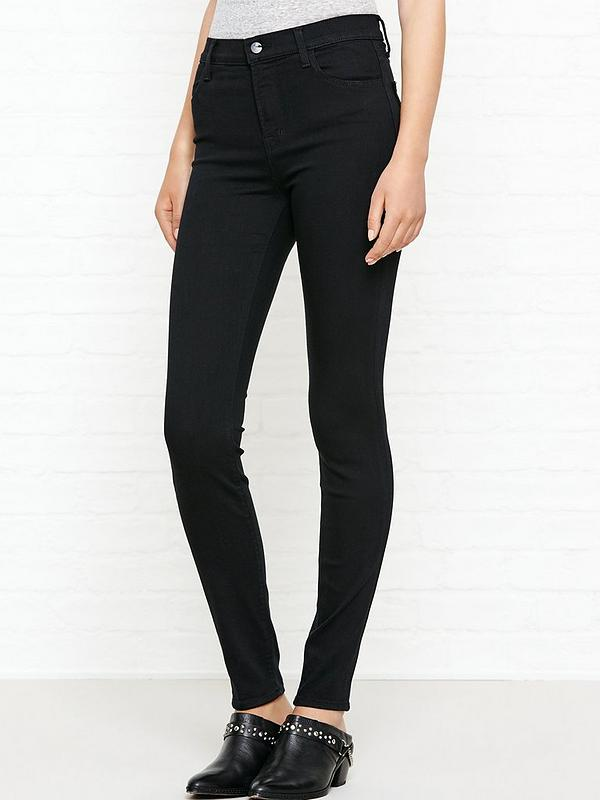 4149267b17fc J BRAND Maria High Rise Skinny Jeans - Seriously Black | very.co.uk