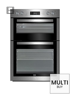 beko-bdf26300xnbsp60cm-built-in-electric-double-oven-with-connection-stainless-steel