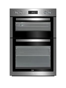 Photo of Beko bdf26300x 60cm built-in double electric oven with connection - stainless steel - oven with connection