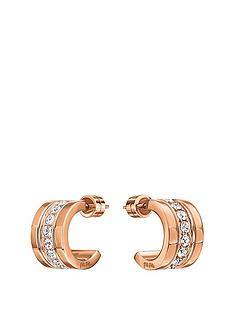 folli-follie-touch-rose-gold-plated-mini-hoop-crystal-set-earrings