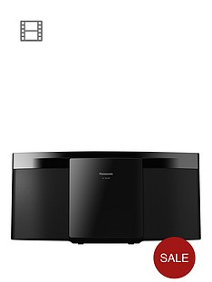 Panasonic SC-HC297EB-K Slim Compact Micro DAB HiFi System with Bluetooth - Black