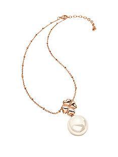 folli-follie-grace-rose-gold-plated-shell-coated-drop-pendant